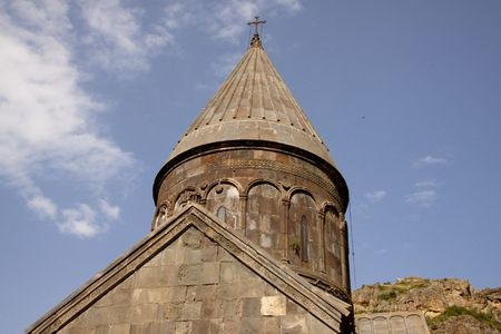 caved: Geghard monastyr UNESCO object near Yerevan - Armenia.