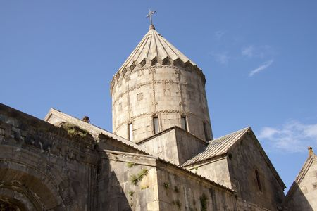 Tower of Tatev Monastyr in Armenia. Summer day. Stock Photo - 5432374