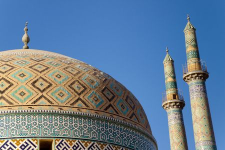 Part of Masjed-i Jame Mosque in Yazd -  Iran.