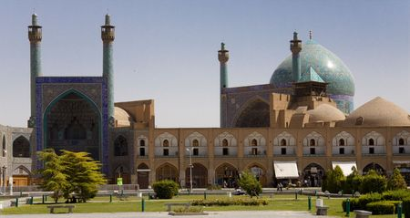 Esfahan - Iran view on Sheikh Lotf Allah Mosque..