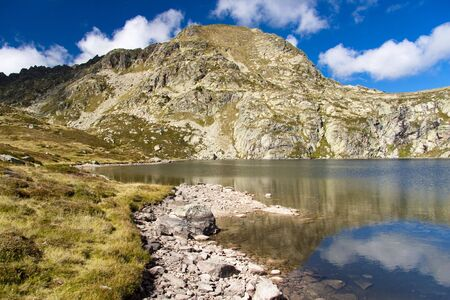 Meadow and small lake - Pedourres in Andorra - Pyrenees photo