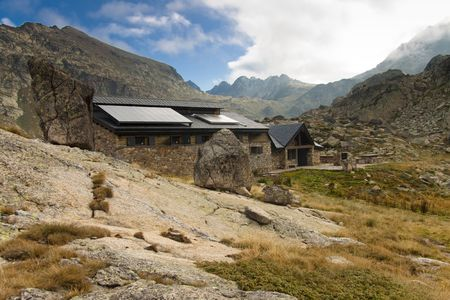Stony Refuge Jucla in Andorra Pyrenees mountain. Stock Photo - 5737314