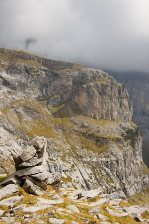anisclo: View on big Canyon Anisclo  in Ordesa Nation Park in Pyrenees, Spain.