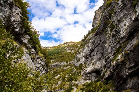 anisclo: Big Canyon Anisclo  in Ordesa Nation Park in Pyrenees, Spain  Autumn time