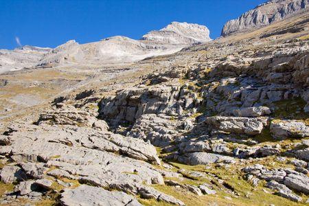 Ordesa National Park in Spain view on monte Perdido. photo