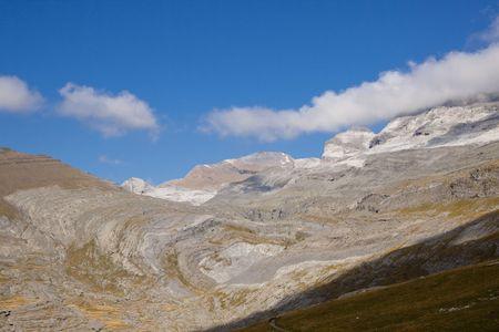 perdido: View on Monte Perdido. Ordesa National Park in Spain.