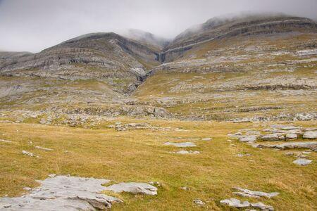 Pattern wall in mountain - Ordesa National Park - Spain. Autumn rainy day. Stock Photo - 6814534
