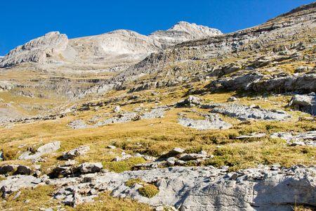 perdido: National Spanish Park - Ordesa. View on Monte Perdido massif. Stock Photo