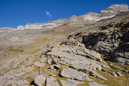 perdido: Mountain view - Monte Perdido massif in Spanish National Park  - Ordesa.