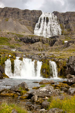 Big and beauty waterfall in western Iceland - Dynjandi Stock Photo - 8349816