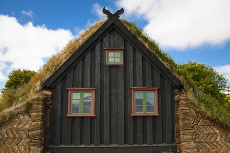 Part of wooden church at Vidimyri in Iceland. Beauty traditional church. Stock Photo - 8349813