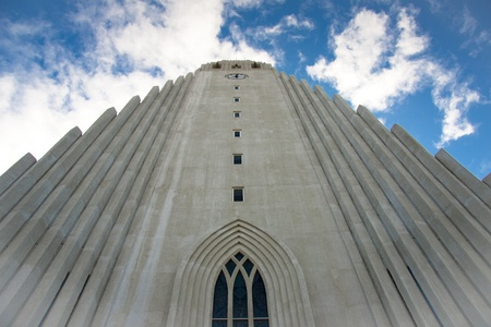 Hallgrimskirkja modern church in Reykjavik - Iceland Stock Photo - 8349806