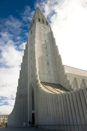 Hallgrimskirkja modern church in Reykjavik - Iceland. Summer day. Stock Photo - 8349794