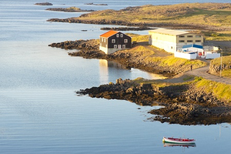 Iceland - beauty landscape, Djupivogur. Fishing town. photo