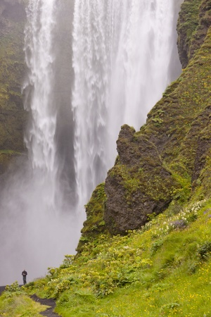 Skogafoss waterfall in south of Iceland near Skogar. Stock Photo - 8877628