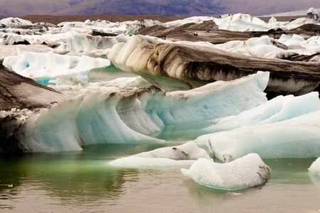 calving: Jokulsarlon, blue beauty lake. Iceland. Stock Photo