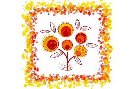Beauty 2d background - multicolored illustration, autumn tree Stock Illustration - 10104650