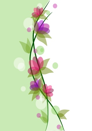 Flowers background, colorful beauty  Illustration