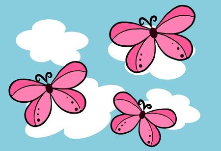 batterfly: Batterfly on the blue sky