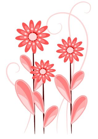Beauty, red and pink flowers Stock Vector - 10268084