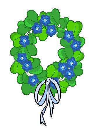 chaplet: Ecology chaplet beauty green illustration