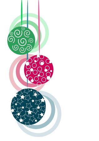 Three colorful beauty glasses christmas tree balls Stock Vector - 10268061