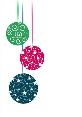 Three colorful beauty glasses christmas tree balls Stock Vector - 10268060