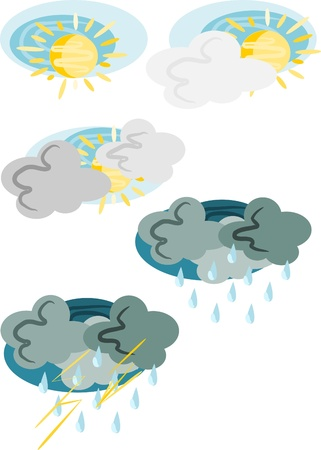 Beauty and pattern five weathers symbols Stock Vector - 10406511
