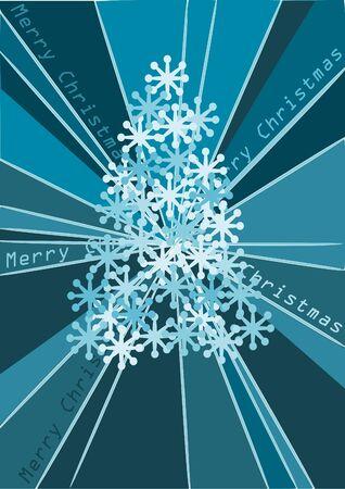 Blue but beauty stars christmas tree Stock Vector - 10406560