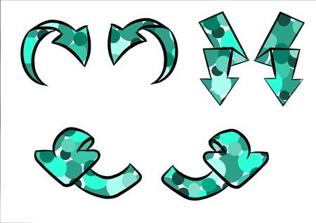 Pattern modern arrows - vector Stock Vector - 10846195