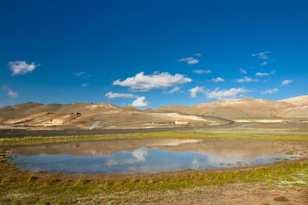 Beauty Icelandic landscape, summer sunny day. Namafjall - Iceland