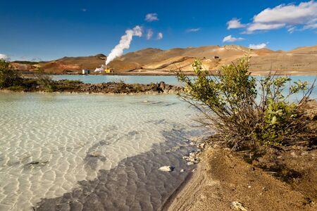 View on hot lake in Iceland, Namafjall