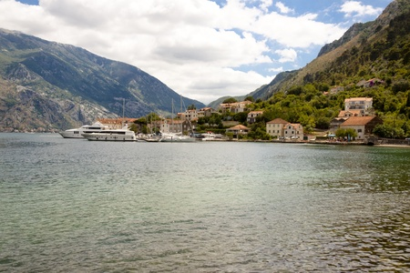 View on Bay of Kotor in summer day - Montenegro. photo
