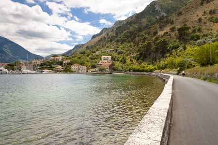 mountin: Small route in Kotor bay, Montenegro, summer day.