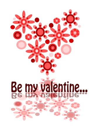 Valentine postcard - be my valentine. Stock Vector - 11581805