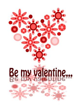 Valentine postcard - be my valentine. Stock Vector - 11581805