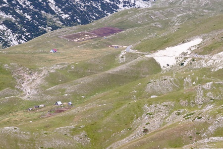 Durmitor National Park in north part of Montenegro.  Summer sunny day. photo
