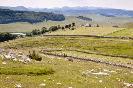 Small village on valley in Durmitor National Park. Montenegro. Stock Photo - 11581877