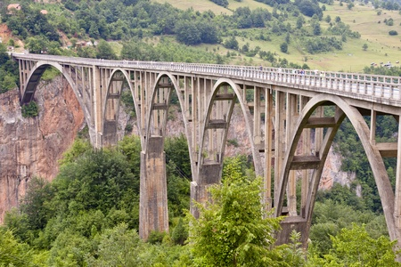 Old big bridge in Durdevica - Montenego, Balkans. Stock Photo - 11582446