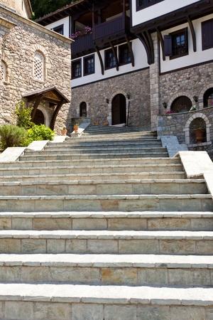 Old stony stairs in Sv. Jovan Bigorski Monastery. Macedonia. photo