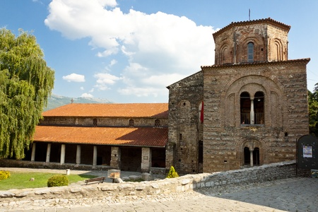 View on exterior of St. Sofia Church in Ohrid, Macedonia - Balkans. Stock Photo - 11858511