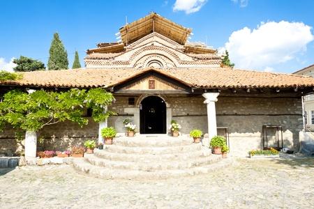 ortodox: Old beauty temple in Ohrid town - Macedonia. Stock Photo