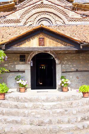 ortodox: Part of beauty old church in Ohrid - Macedonia. Stock Photo