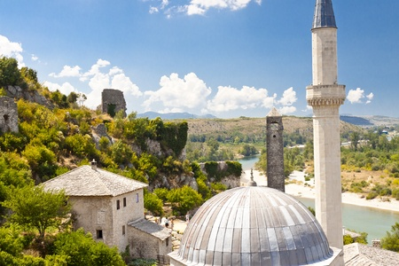 View on roof of mosque in Pocitelj - Bosnia and Herzegovina, Balkans. photo