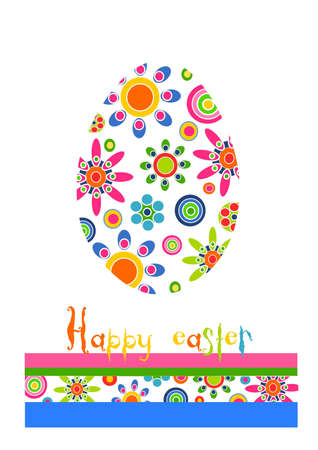 Happy time - colorful beauty floral easter egg Stock Vector - 12492979