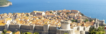 Panorama of Dubrovnik old UNESCO town. photo