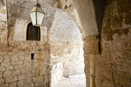 Gate in old town. Dubrovnik Croatia. Summer day. photo