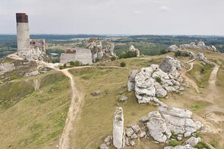 jura: Jura region, Olsztyn near Czestochowa - Old fortification  Poland, Silesia
