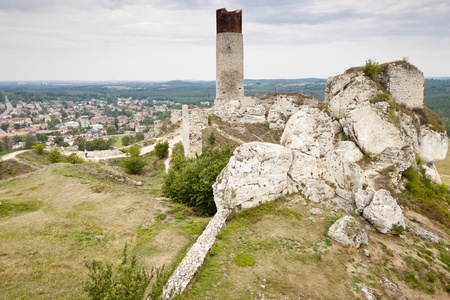 View on old fortification and Olsztyn town - Poland, Silesia  Stock Photo - 15294668