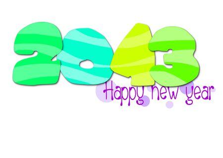 Happy new year 2013 - vector illustration   Stock Vector - 15476071
